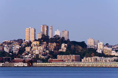 Coit Tower Sits Prominently On Top Of Telegraph Hill In San Fran Art Print by Scott Lenhart