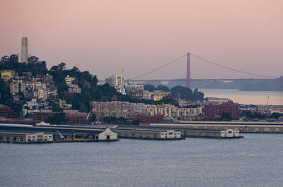 Coit Tower Sits Prominently On Top Of Telegraph Hill In San Francisco Art Print by Scott Lenhart
