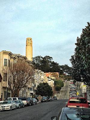 Fashion Paintings Rights Managed Images - Coit Tower Royalty-Free Image by Victor Zambrano