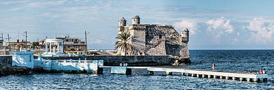 Old Fort Photograph - Cojimar Old Fort And Hemingway Memorial by Panoramic Images