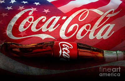 Cola Mixed Media - Coke Ads Life by Jon Neidert