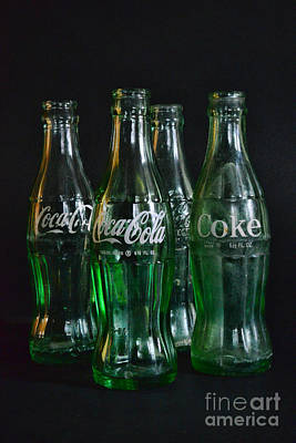 Coke Bottles From The 1950s Art Print
