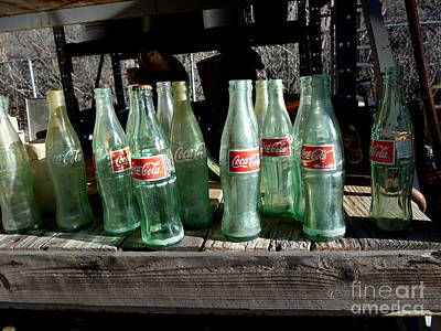 Photograph - Coke Bottles by Marlene Rose Besso