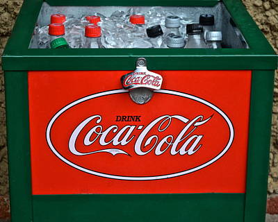 Coke Cooler Art Print by Frozen in Time Fine Art Photography