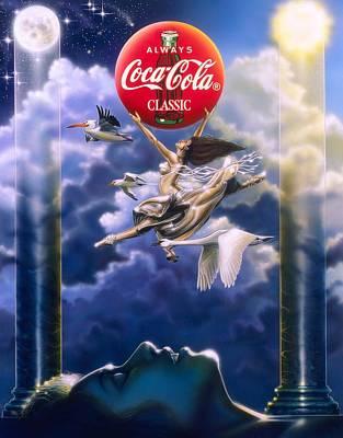 Cola Painting - Coke Dreams by Tim  Scoggins