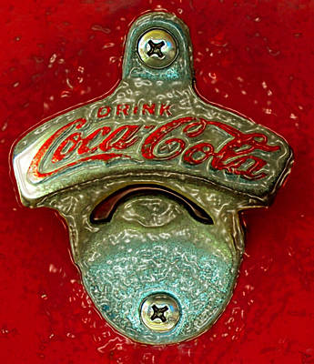 Coca-cola Signs Painting - Vintage Coke Bottle Opener by David Lee Thompson