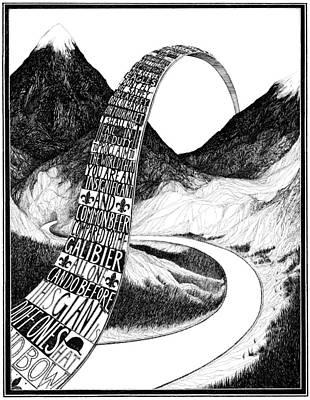 Mountain Biking Drawing - Col Du Galibier by Rohan Daniel Eason