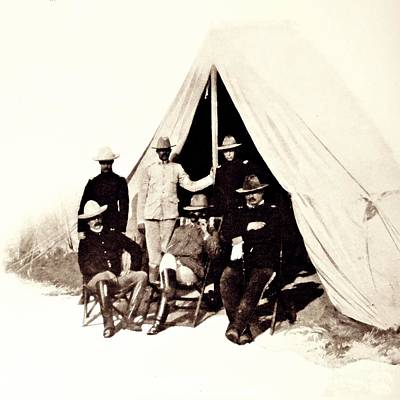 Photograph - Col Hardeman And His Staff by William B Townsend
