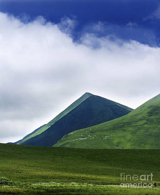 Pasture Scenes Photograph - Col Of Croix Morand. The Sancy Massif. Auvergne. France. by Bernard Jaubert