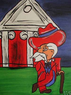 Col Reb Art Print by Lisa Collinsworth