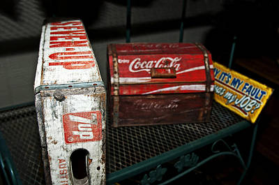 Photograph - Cola Crates by Andy Crawford