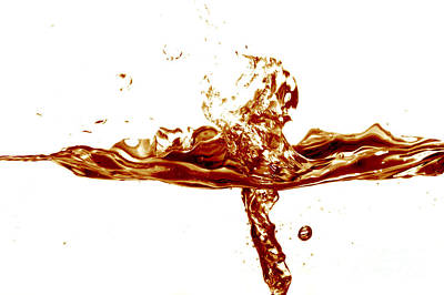 Twirl Photograph - Cola Splash by Michal Bednarek