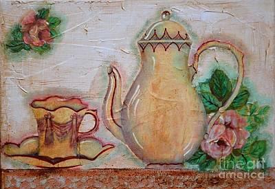 Decoupage Painting - Colazione Da Tiffany by Adriana Otetea
