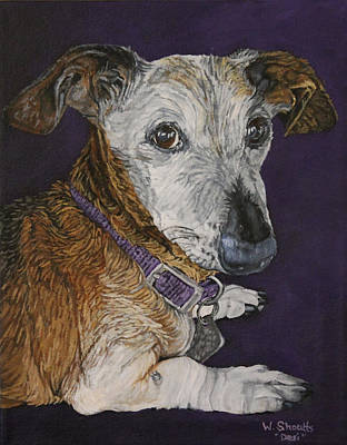 Art Print featuring the painting Colbi by Wendy Shoults