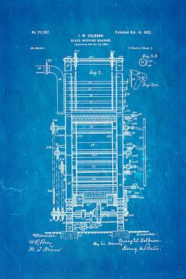 Brickie Photograph - Colburn Flat Glass Working Machine Patent Art 2 1902 Blueprint by Ian Monk