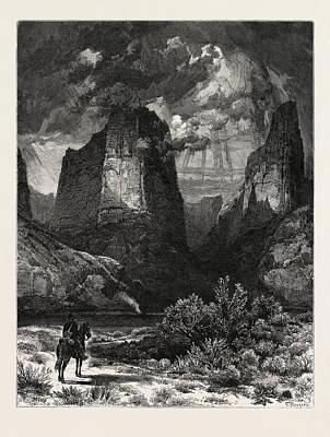 Colburns Butte, In Kannarro Canyon. Thomas Moran February 12 Art Print