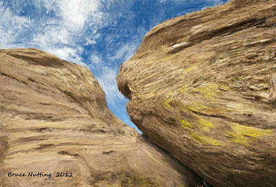 Art Print featuring the painting Colby's Cliff by Bruce Nutting