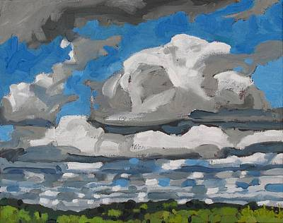 Cold Air Mass Cumulus Art Print