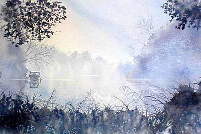 Painting - Cold And Frosty Mooring by Glenn Marshall