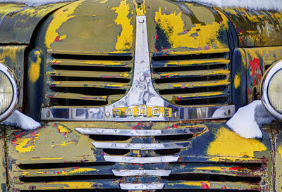 Automobile Hood Photograph - Cold And Old by Mark Kiver