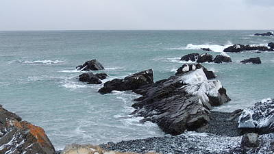 Photograph - Cold Atlantic Rocks by Bozena Zajaczkowska