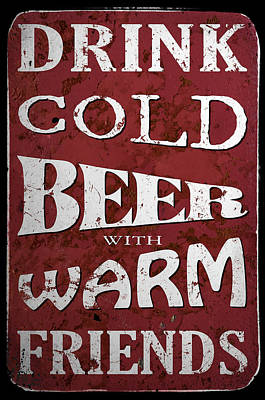 Man Cave Painting - Cold Beer by Cora Niele