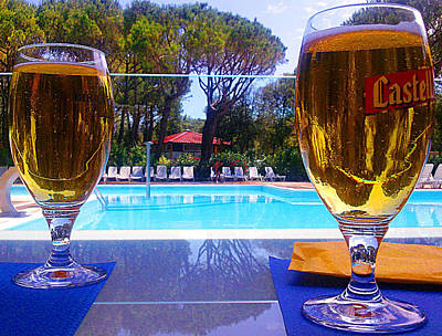 Cold Beers Art Print by Giuseppe Epifani