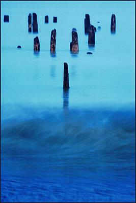Photograph - Cold Blue Lake by Fuad Azmat