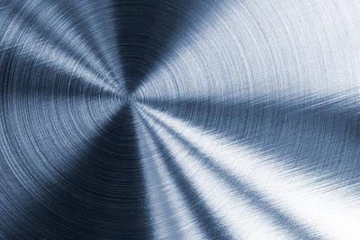 Cold Blue Metallic Texture Art Print