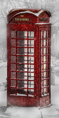 Old Phone Booth Photograph - Cold Call by Ken Smith