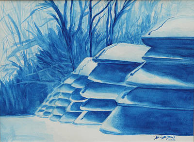 Painting - Cold Canoes. by Bobbin