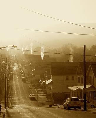 Cold Coal Town Morning Art Print by Feva  Fotos