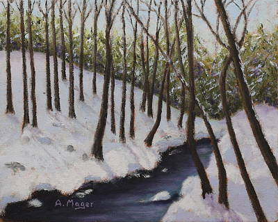 Painting - Cold Creek by Alan Mager