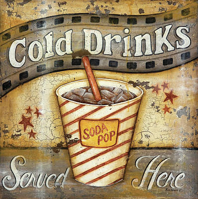 Movie Theater Painting - Cold Drinks by Kim Lewis