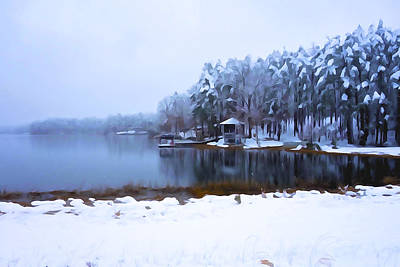 Photograph - Cold Feet - A Winter Landscape by Charlie and Norma Brock
