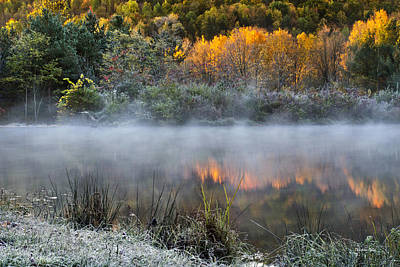 Photograph - Cold Fire Sunrise Landscape by Christina Rollo
