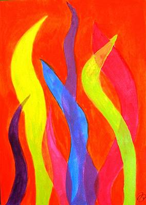 Painting - Cold Flames by Jutta B