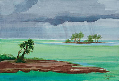 Painting - Cold Front In Islamorada Watercolor Painting by Michelle Constantine