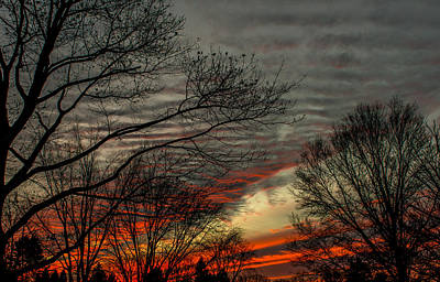 Wall Art - Photograph - Cold Front Sunset by Scott Hafer