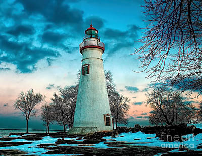 Photograph - Cold Morning At Marblehead Light by Nick Zelinsky