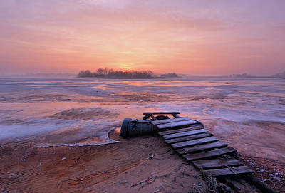 Driftwood Photograph - Cold Morning by Fproject - Przemyslaw