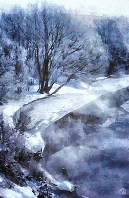 Winter-landscape Digital Art - Cold Morning by Gun Legler