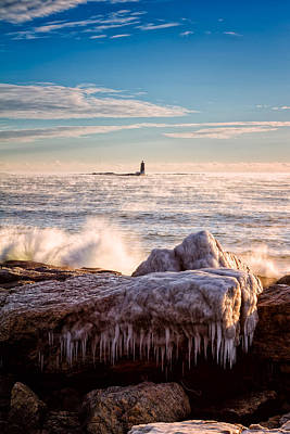 Cold Morning Lighthouse Art Print by Jeff Sinon