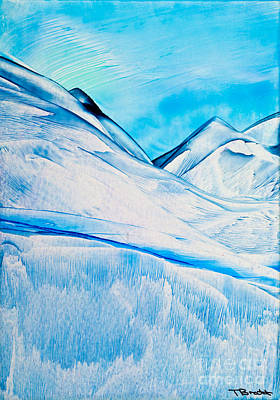 Surreal Art Painting - Cold Mountain 2 Wax Painting by Simon Bratt Photography LRPS