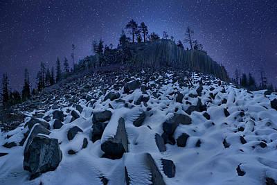 Sierra Photograph - Cold Mountain: Devils Postpile by Yan Zhang