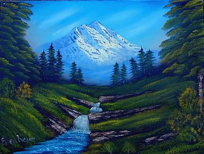 Bob Ross Painting - Cold Mountain by Fineartist Ellen