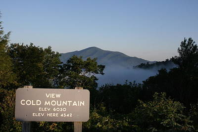 Photograph - Cold Mountain Sign by Stacy C Bottoms