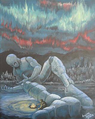 Cold Night Art Print by Amanda Ellis