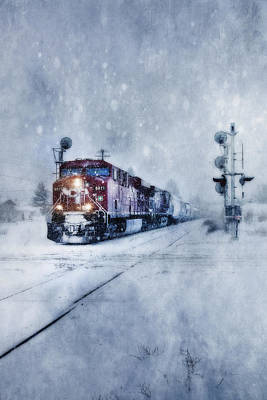 Photograph - Cold Nights On The Midnight Train Color by Theresa Tahara