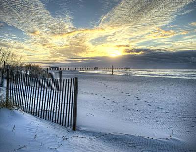 Digital Art - Cold November Morning Sunrise  by Michael Thomas